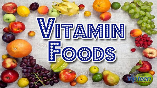 thực phẩm tăng chiều cao cho bé chứa vitamin