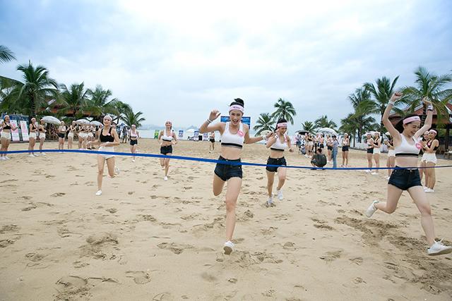 Chiều cao vượt trội, thể lực dẻo dai giúp thí sinh thắng trong các phần thi Người đẹp thể thao