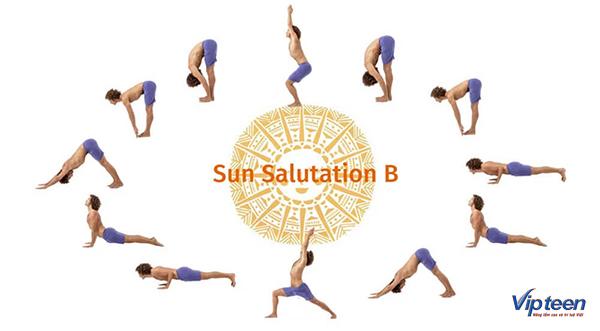 cách tập yoga tăng chiều cao với tư thế mặt trời