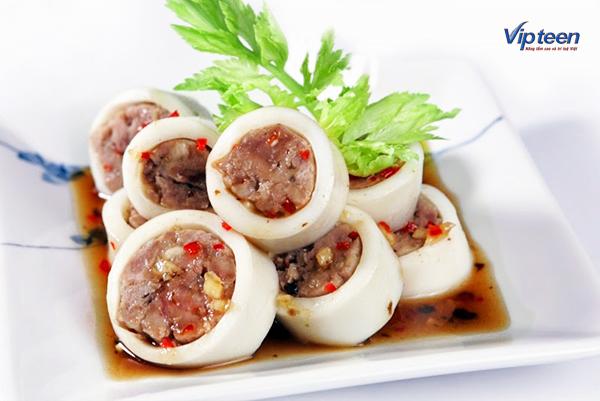 món ăn giúp tăng chiều cao - mực nhồi thịt hấp