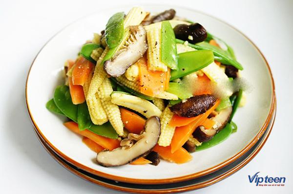 món ăn giúp tăng chiều cao - đậu hà lan xào