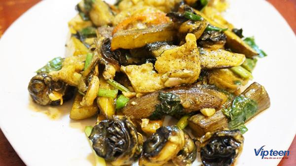 món ăn giúp tăng chiều cao - ốc xào đậu