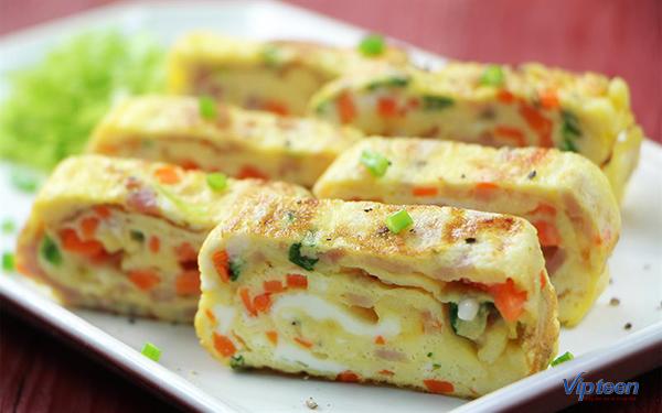 món ăn giúp tăng chiều cao - trứng cuộn