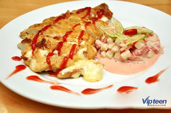 món ăn giúp tăng chiều cao - gà chiên phô mai
