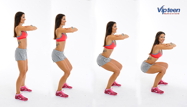 tập gym có tăng chiều cao không - bài tập squat