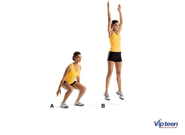 tập gym có tăng chiều cao không - bài tập bật nhảy lên