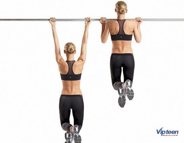 treo người trên xà là cách tập xà đơn tăng chiều cao