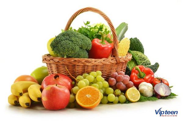 thức ăn giúp tăng chiều cao - hoa quả