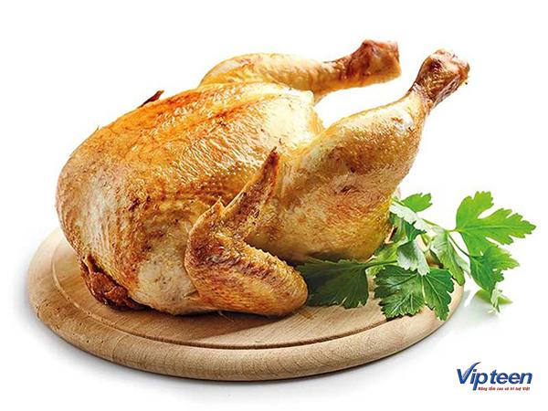 thức ăn giúp tăng chiều cao - thịt gà