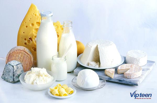 thức ăn giúp tăng chiều cao - sữa