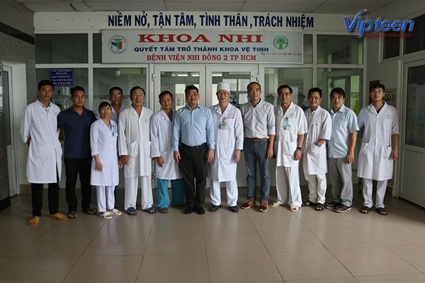 Bệnh viện Nhi Đồng 2 là nơi tập trung rất nhiều các chuyên gia bác sĩ