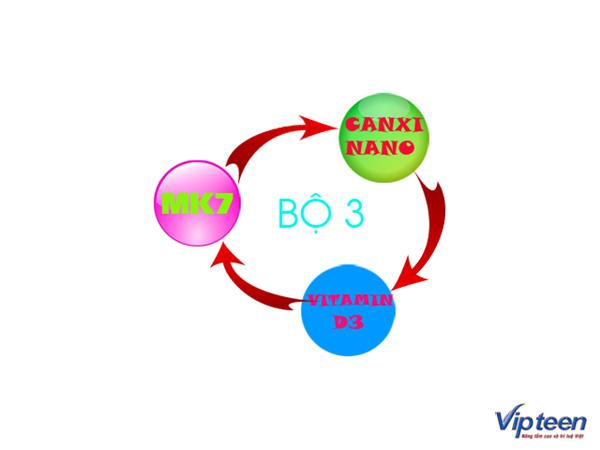 kết hợp bộ ba chất mk7, d3 và canxi nano để cơ thể hấp thụ canxi tố nhất
