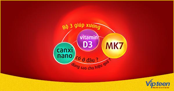 Uống Canxi Nano kết hợp Vitamin D và MK7 tốt nhất