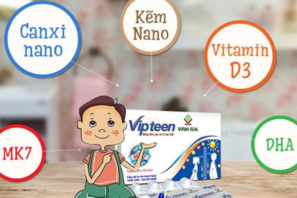 thuốc uống vipteen chứa nhiều dưỡng chất