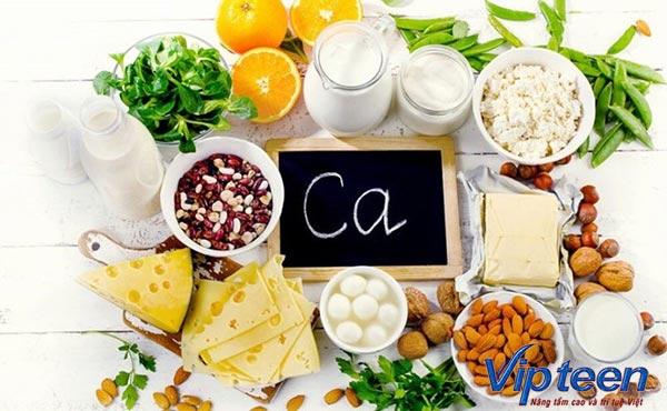 Trong thực phẩm có chứa rất nhiều canxi