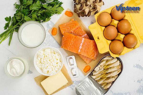 trẻ bị còi xương nên ăn đồ ăn chứa nhiều vitamin d