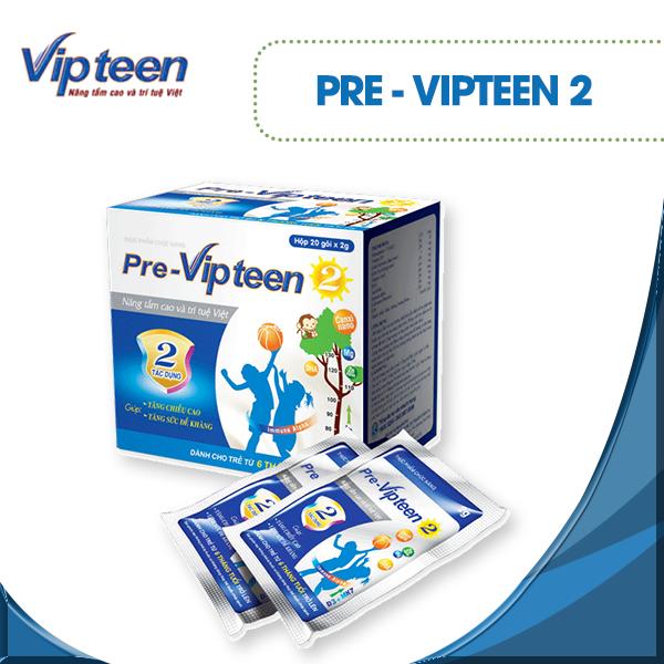 Sản phẩm Pre Vipteen 2 cho trẻ 6 tháng - 9 tuổi để tăng chiều cao và sức đề kháng