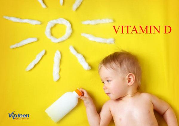 Bổ sung Vitamin D kèm Canxi cho bé chậm mọc răng
