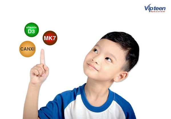 Bổ sung Canxi, Vitamin D3 và MK7 cho trẻ nhỏ