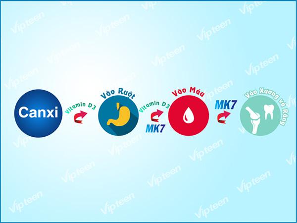 Cần bổ sung Canxi kèm Vitamin D và MK7
