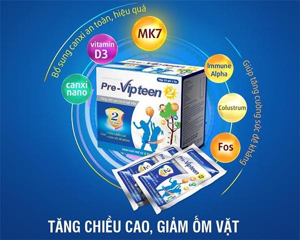 PreVipteen 2 là thuốc cho trẻ sơ sinh thiếu canxi
