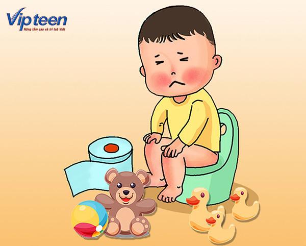 Trẻ bị táo bón khó hấp thụ dưỡng chất, thừa Canxi dẫn đến nóng trong