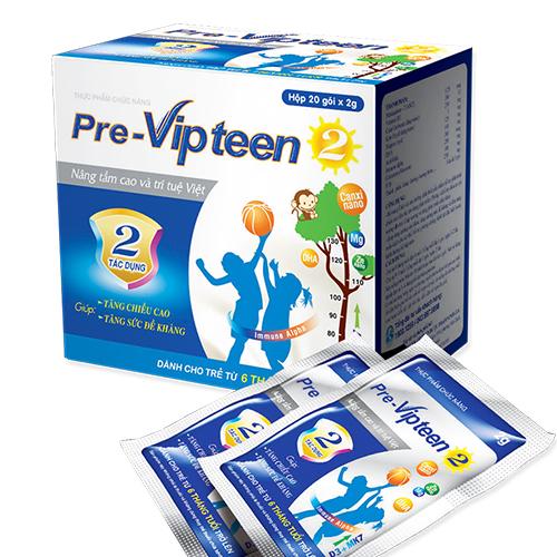 PreVipteen cho trẻ thấp còi