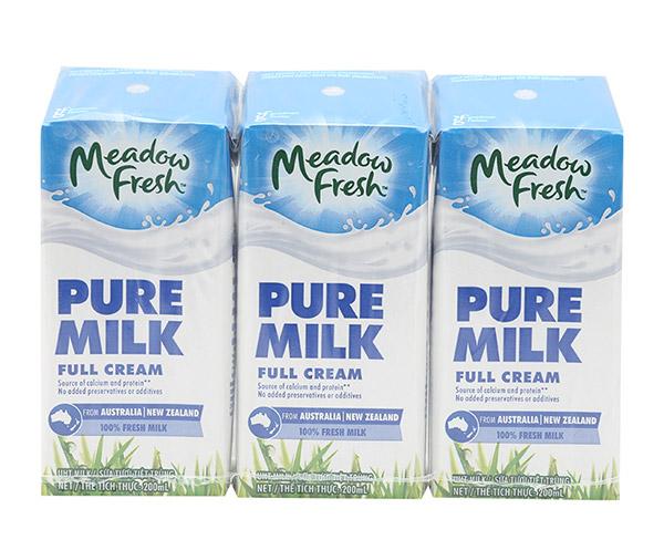 Sữa tươi Meadow Fresh New Zealand ít béo, 200ml