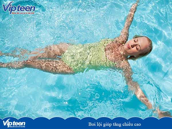 bơi lội tăng chiều cao