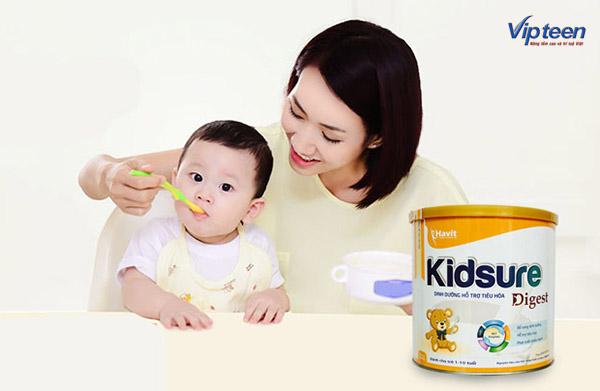 Sữa Kidsure cho bé 1 tuổi thấp còi