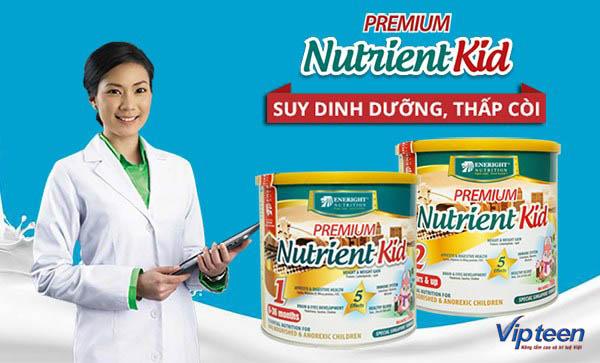 chăm sóc trẻ thấp còi với sữa Nutrient kid