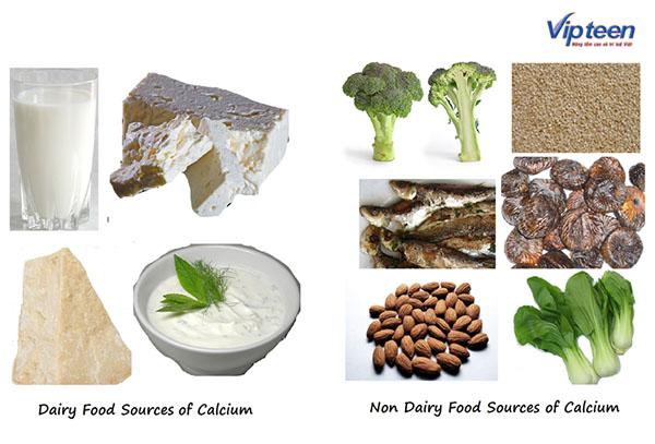 thực phẩm giúp tăng chiều  cao tuổi 18